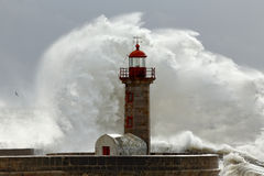 Big stormy waves Stock Image
