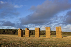 Big straw bales Royalty Free Stock Photos