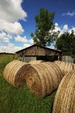 Big straw bales Stock Photography