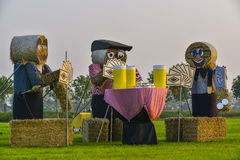 Big straw dolls Royalty Free Stock Photography