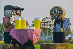 Big straw dolls Stock Image