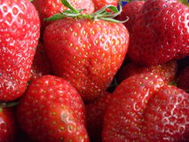 Big strawberries stock photography