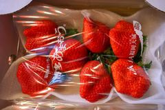 Big strawberry royalty free stock photos