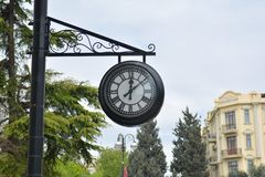Big street clock, Baku Stock Images