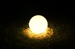 Big street lamp in the form of a ball Royalty Free Stock Image