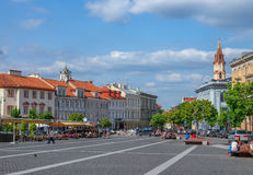 Big street of vilnius Royalty Free Stock Photos