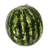 Big striped watermelon, isolated on white background stock photos