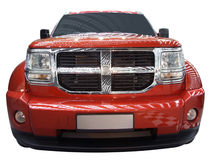 Big strong car. Front of big strong car isolated Stock Photography