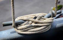 Big and strong rope on boat Stock Photography