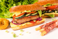 Big stuffet burger sandwich Stock Photo