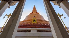 Big Stupa. In thailand buildind of ancient and history of buddha Royalty Free Stock Photos