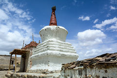 Big stupa at the Buddhist temple in Leh, India Royalty Free Stock Image