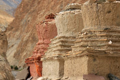 Big Stupas which are nature buddhism praying place Royalty Free Stock Images