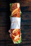 Big submarine sandwich Stock Images