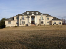 Big Suburban Mansion Royalty Free Stock Photos