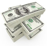 Big sum of money dollars. 3d illustration Stock Photo