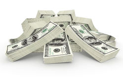 Big sum of money dollars Stock Images