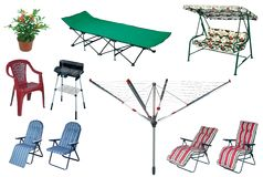 Big summer outdoors set Royalty Free Stock Image