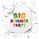 Big summer party poster. royalty free illustration