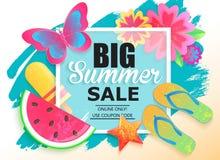 Big summer sale background for banner, wallpaper. Royalty Free Stock Image