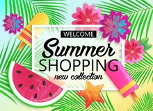 Big summer sale background for banner, wallpaper. Royalty Free Stock Photography