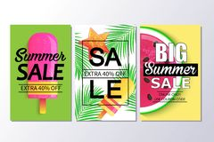 Big summer sale background for banner, wallpaper. Royalty Free Stock Images