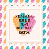 Big summer sale banner. With ice cream Stock Photo