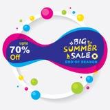 Big summer sale banner design Royalty Free Stock Image