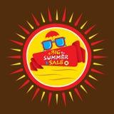 Big summer sale banner design Stock Image