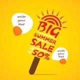 Big summer sale banner design Stock Images