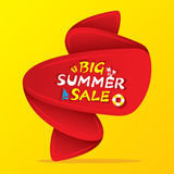 Big summer sale banner design. With big offer Royalty Free Stock Photos