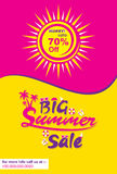 Big summer sale banner Stock Image