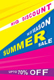 Big summer sale banner Royalty Free Stock Photos