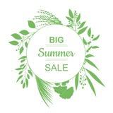 Big Summer Sale Banner. Royalty Free Stock Image