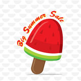 Big summer sale banner Royalty Free Stock Photography