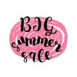 Big summer sale. Brush lettering. Stock Photo