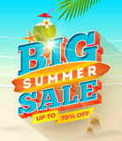 Big summer sale design Royalty Free Stock Image