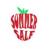 Big summer sale label Stock Image