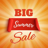 Big summer sale poster. Royalty Free Stock Images