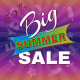Big Summer Sale Promotion Flyer. Royalty Free Stock Photography