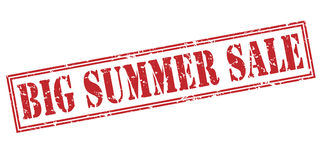 Big summer sale red stamp. Isolated on white background Stock Photo