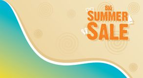 Summer sale banner design. Big summer sale template banner design , beach concept Stock Photos