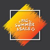 Summer sale banner design. Big summer sale template poster design Royalty Free Stock Photography