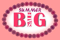 Big summer sale  vector illustration eps10. Summer big Royalty Free Stock Photos