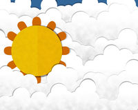 Big Sun at Cloudy Day Royalty Free Stock Photos