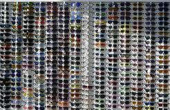 Big sun glasses from the many different . royalty free stock images