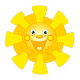 Big sun smiles Royalty Free Stock Photography