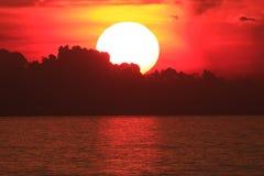 Big Sun on sunset Stock Image