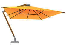 Large parasol. Big sun umbrella on a stationary bracket. Vector illustration Royalty Free Stock Images