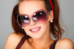 Big sunglasses Royalty Free Stock Photography